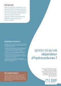 ITSEP Qu'est ce qu'un séparateur d'hydrocarbures