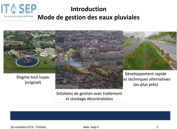 Pollutec 2018, Gestion des eaux pluviales