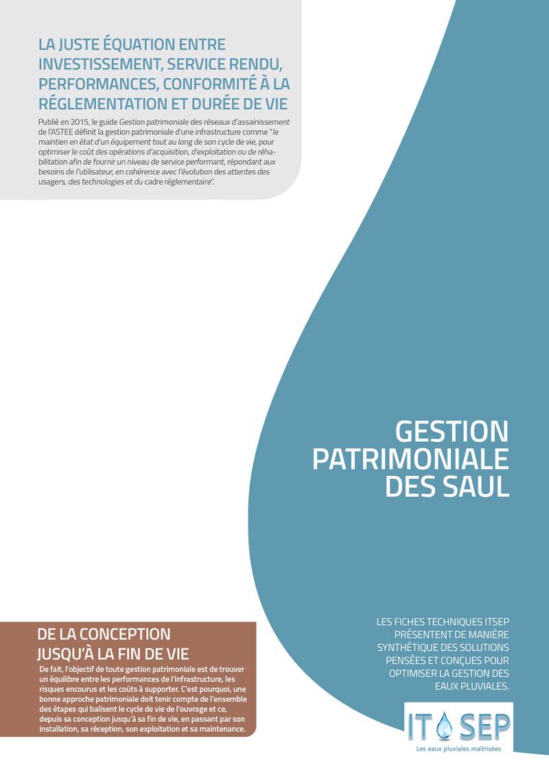 Gestion patrimoniale des SAUL, fiche Itsep, gestion des eaux de pluie